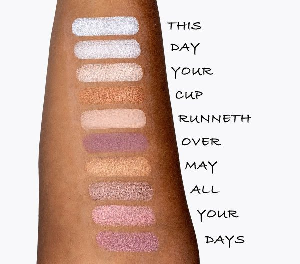 Hereafter Eyeshadow Palette swatches