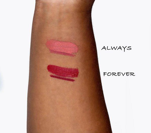Hereafter Velvet Lipstick swatches